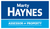Marty Haynes for Assessor of Property
